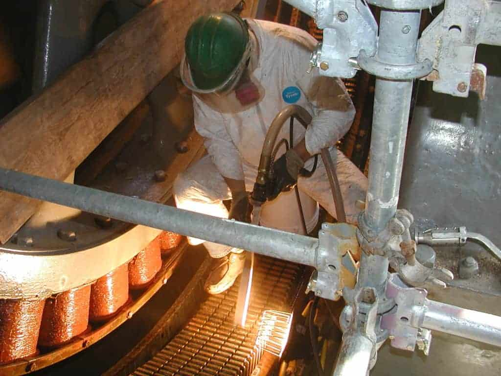 Dry Ice Blasting electric motors - Katrina 2005 disaster clean up