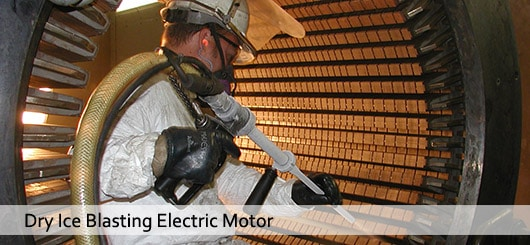 Starr Restoration Technician Dry Ice Cleaning Electric Motor Before Rewind