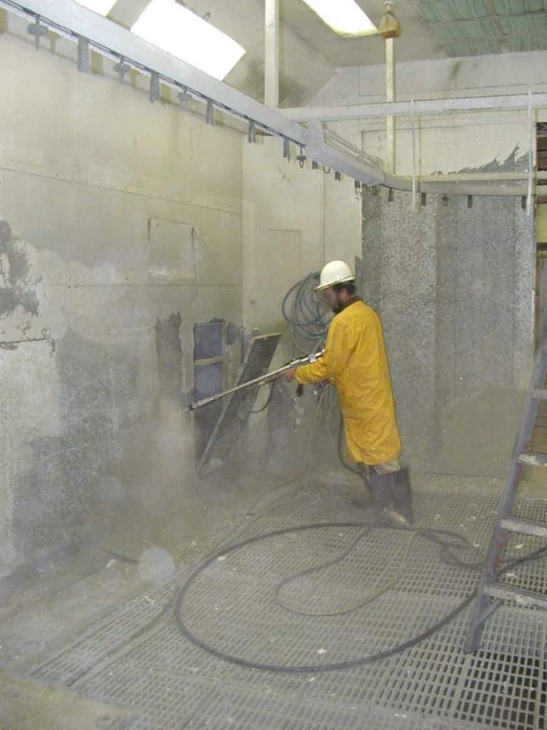 Water Blasting Paint Booth