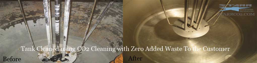 Dry Ice Blasting Tank-Cleaning Before and After